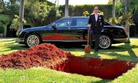 Will This Man Bury His 1 Million Dollar Bentley Car? Read The Story Here