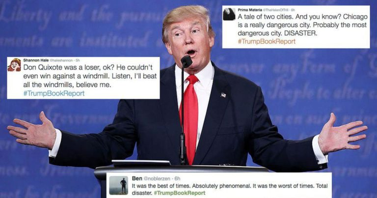 Read more about the article Why are social media users cracking up at #TrumpBookReport after the final US presidential #debate?