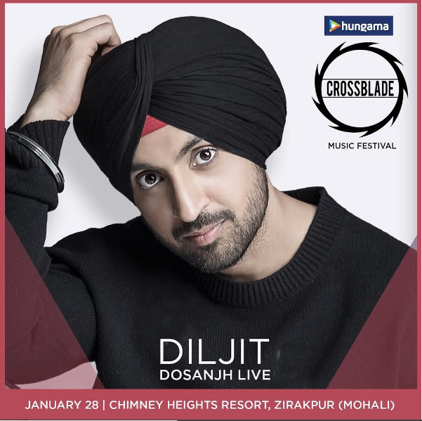 Diljit Dosanjh, Nucleya, Harrdy Sandhu and more gear up to perform at the largest Punjabi music festival – Hungama Crossblade 2017