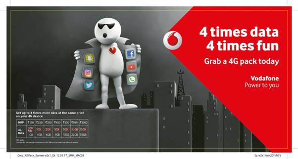 You are currently viewing Ab 4X Internet kar Befikar on Vodafone supernet 4G