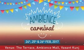 Ambience to host 'Ambience Carnival'-One of its kind Terrace Food Festival & Live Music all served over One Roof!