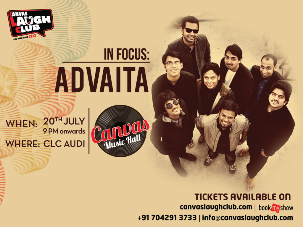 Canvas Laugh Club rolls out Canvas Music Hall, Fusion Band Advaita to launch the new property