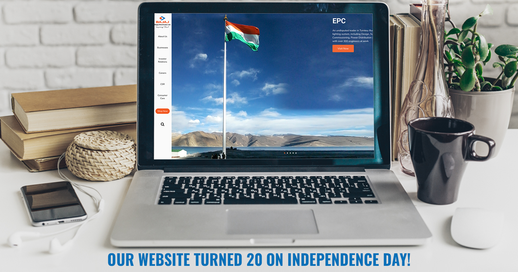 You are currently viewing Bajaj Electricals E-Portal turns 20 this Independence Day, launches new and revamped website