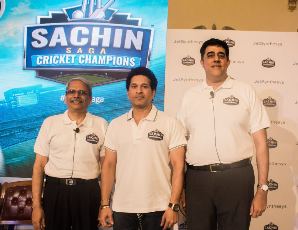 "JetSynthesys and Sachin Tendulkar launch ""Sachin Saga Cricket Champions"""
